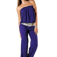 Alki'i Full length one-piece Rompers Jumpsuit with elastic bust and waist