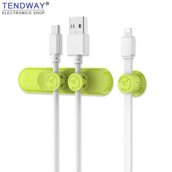 Tendway Magnetic Cable Winder Clip Desktop USB Cable Organizer Earphone Wire  Charger Cable Holder Charging Data Line Organizer