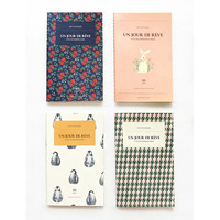 Iconic Un jour de reve thread stitching small lined notebook