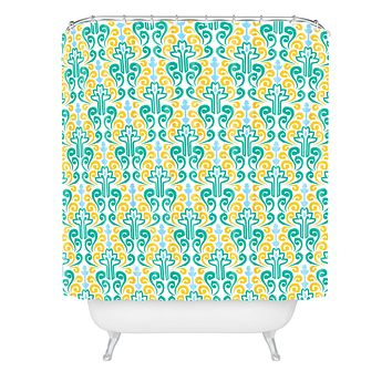 Raven Jumpo Breezy Damask Shower Curtain