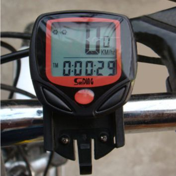 Cycling Computer Leisure 14-Functions Waterproof Odometer Speedometer With LCD Display