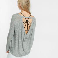 Express One Eleven Cowl Open Back Tee