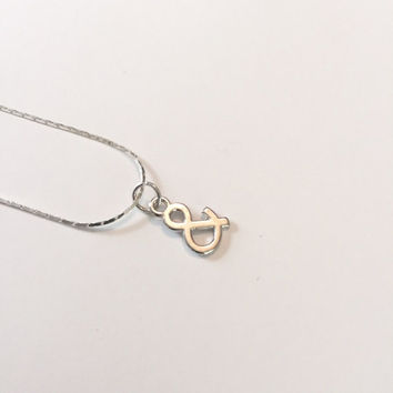 Silver Small Ampersand Necklace