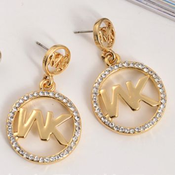 MICHAEL KORS New fashion earrings round letter diamond jewelry w 7d7428f3cb