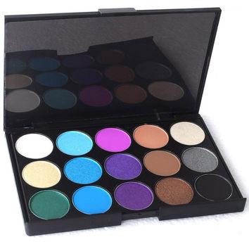 Cosmetic 15 Colours Pearl Matte Shimmer Eyeshadow Palette
