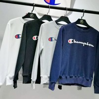 Champion Fashion Casual Long Sleeve Hedging Pullover Sweater G-A-HRWM