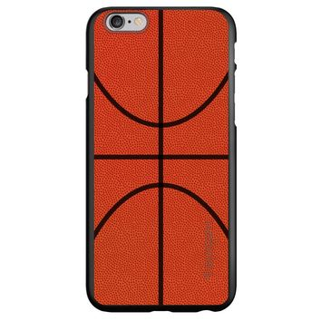 DistinctInk® Spigen ThinFit Case for Apple iPhone or Samsung Galaxy - Basketball Drawing