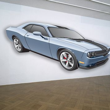 Dodge Challenger Muscle Car WALL DECAL REMOVABLE REPOSITIONABLE