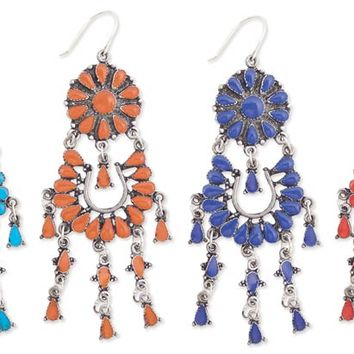 Southwestern Tribal Chandelier Earrings - As Seen in People Magazine