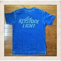Vintage Inspired Keystone Light Mens Tee Shirt