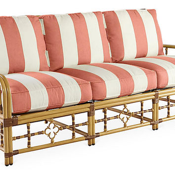MImi Sofa, Coral Sunbrella - Celerie Kemble - Brands | One Kings Lane