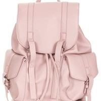 Topshop Faux Leather Backpack