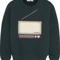 Carven - Embroidered cotton-jersey sweatshirt