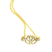 Gold or Silver Lotus Necklace