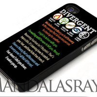 Divergent quotes -For iPhone 4/4S Case, iPhone 5/5S/5C Case, Samsung Galaxy S3/S4/S3 Mini/S4 Mini Case