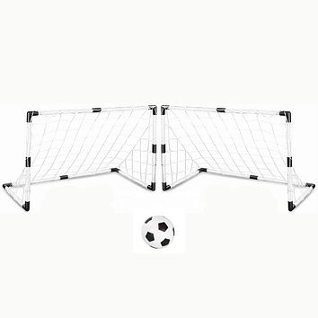 2 Sets Soccer Goals with Soccer Ball and Pump