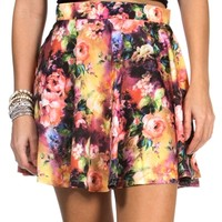 SALE-Multi-Color Skater Skirt