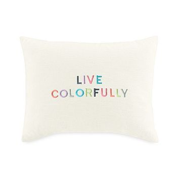 kate spade | spring street ''live colorfully'' pillow