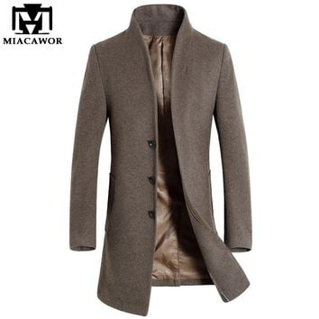 Men's Wool Winter Trench Coat