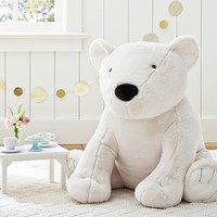Faux Fur Jumbo Polar Bear Plush