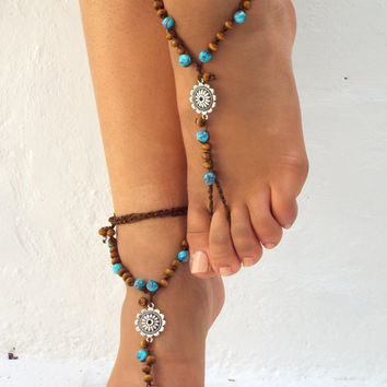 Barefoot Sandals Barefoot Beach  seaside  Jewelry barefoot sandal, Hippie Sandals Foot Jewelry Toe Thong