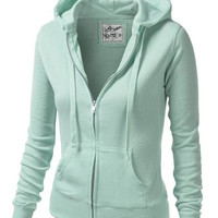 Long Sleeves Zippered Hoodie