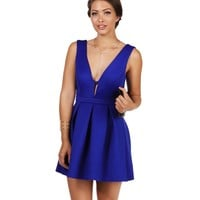 Sale- Royal All Eyes On Me Skater Dress