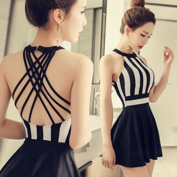 DKLW8 NIUMO One-piece Swimsuit Skirt Style Small Chest Gather Together Swimsuit Woman Large Size Sexy Hot Spring Swimsuits