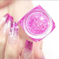 20ml Long Lasting UV Gel Sequins Glitter Shiny Gel Nail Polish Charming Acrylic Nail Gel Polish