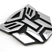 3D Logo Autobot Transformers Emblem Badge Decal Car Sticker [7735878982]