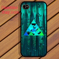 iPhone 5 Case Abstract Triangle Eye Blue Tone iPhone 4 case, iPhone 4S case, Hard Plastic Case Rubber Case