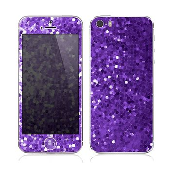 The Purple Shaded Sequence Skin for the Apple iPhone 5s