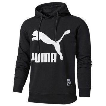 PUMA 2018 new men's fashion cross-country pullover casual long-sleeved jacket black