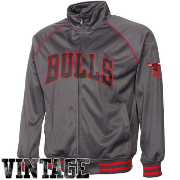 Majestic Chicago Bulls Youth Pop Poly Full Zip Track Jacket - Charcoal - http://www.shareasale.com/m-pr.cfm?merchantID=7124&userID=1042934&productID=521883503 / Chicago Bulls