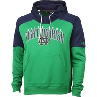 Men's Notre Dame Fighting Irish Under Armour Kelly Green/Navy Blue Performance Hoodie
