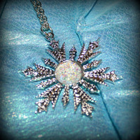 SPOOKY SALE Once OUAT Upon a Time Elsa Themed Anna Inspired Snowflake Necklace