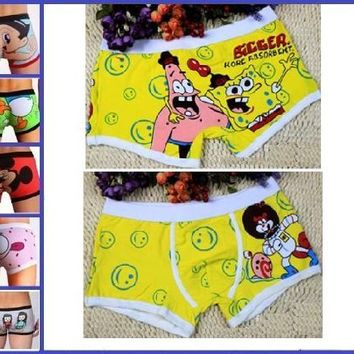 "Sexy Cute Man's Cartoon SpongeBob Patrick Star Boxers Briefs Trunks Underwear Size XL Waist 30.5""-34.5"""