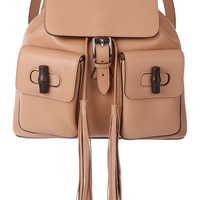 Gucci - Bamboo Sac textured-leather backpack
