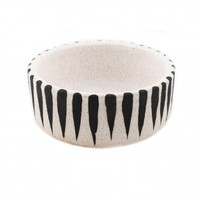 Black Striped Votive