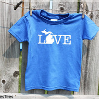 Kids Michigan Love Shirt