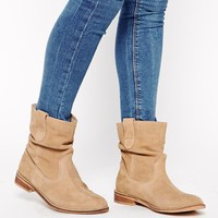 ASOS ALOOF Suede Pull On Ankle Boots