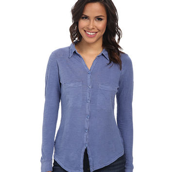 Alternative Slub Everyday Button Up Shirt Dusk Blue - Zappos.com Free Shipping BOTH Ways