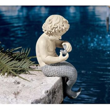 The Ocean's Little Treasures Sitting Sculpture - NG31302 - Design Toscano