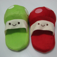 Christmas gift, Christmas Cute House shoes, Kawaii shoes, Cute shoes, Geeky. Plushies, home shoes, flats, wool slippers, panda bear