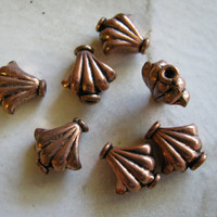 Copper Fan Beads