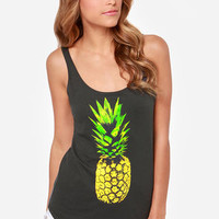 O'Neill Pineapple Dreams Washed Black Tank Top