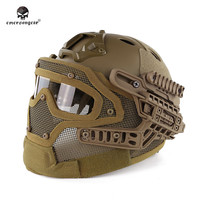 Emersongear BD9197 G4 System/Set PJ Helmet with Overall Protection Glass Mask Military Paintball Hunting Helmet with Goggle