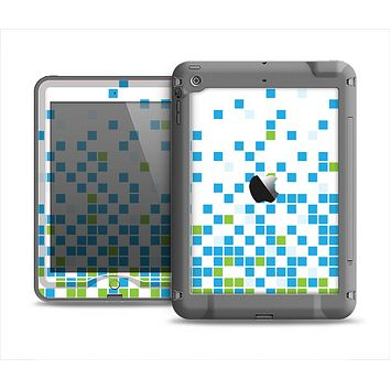 The Green and Blue Mosaic Pattern Apple iPad Mini LifeProof Nuud Case Skin Set