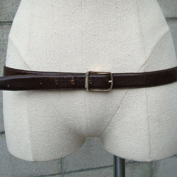 Christian Dior Belt Leather Brown Vintage 1980s