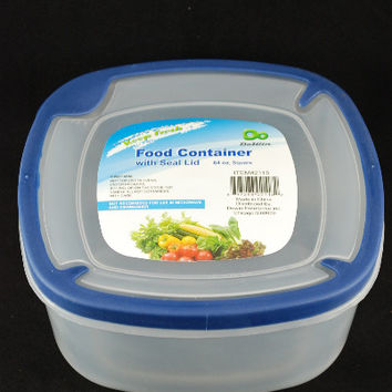 plastic food container 64 oz with lid Case of 192
